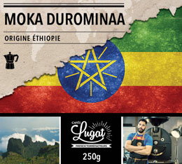 Caf� moulu pour cafeti�re italienne : Ethiopie - Moka Durominaa - 250g - Caf�s Lugat