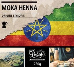 Café moulu Bio pour cafetière italienne : Ethiopie - Moka Henna - 250g - Cafés Lugat