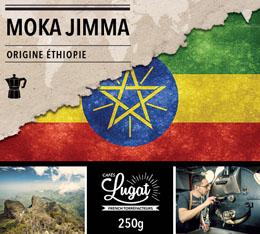 Café moulu pour cafetière italienne : Ethiopie - Moka Jimma - 250g - Cafés Lugat