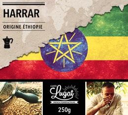 Café moulu pour cafetière italienne : Ethiopie - Moka Harrar - 250g - Cafés Lugat