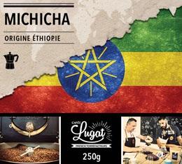 Café moulu pour cafetière italienne : Ethiopie - Moka Michicha - 250g - Cafés Lugat