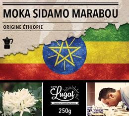 Café moulu pour cafetière italienne : Ethiopie - Moka Sidamo Marabou - 250g - Cafés Lugat
