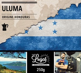 Café moulu Bio pour cafetière italienne : Honduras - Uluma - 250g - Cafés Lugat