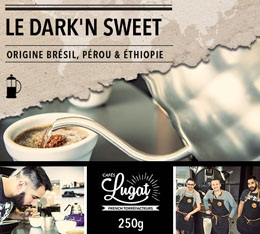 Caf� moulu pour cafeti�re � piston : Le Dark'n Sweet (M�lange Gourmand) - 250g - Caf�s Lugat