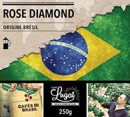 Caf� moulu pour cafeti�re � piston : Br�sil - Rose Diamond - 250g - Caf�s Lugat