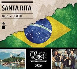 Caf� moulu pour cafeti�re � piston : Br�sil - Santa Rita - 250g - Caf�s Lugat