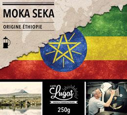 Caf� moulu pour cafeti�re � piston : Ethiopie - Moka Seka - 250g - Caf�s Lugat