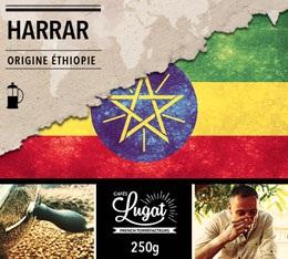 Café moulu pour cafetière à piston : Ethiopie - Moka Harrar - 250g - Cafés Lugat