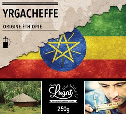 Caf� moulu pour cafeti�re � piston : Ethiopie - Moka Yrgacheffe - 250g - Caf�s Lugat