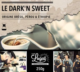 Caf� moulu pour cafeti�re Hario/Chemex : Le Dark'n Sweet (M�lange Gourmand) - 250g - Caf�s Lugat