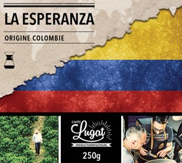 Caf� moulu bio pour cafeti�re Hario/Chemex : Colombie - La Esperanza - 250g - Caf�s Lugat