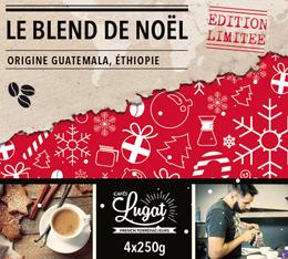 Café en grains : Le Blend de Noël (Mélange Gourmand) - 1Kg - Cafés Lugat