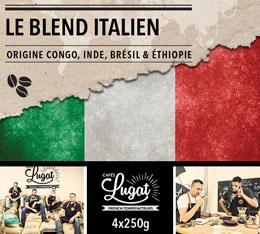 Café en grains : Le Blend Italien (Mélange Italien) - 1Kg - Cafés Lugat