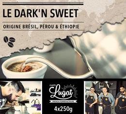 Café en grains : Le Dark'n Sweet (Mélange Gourmand) - 1Kg - Cafés Lugat