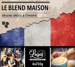 Café en grains : Le Blend Maison (Mélange Maison) - 1Kg - Cafés Lugat