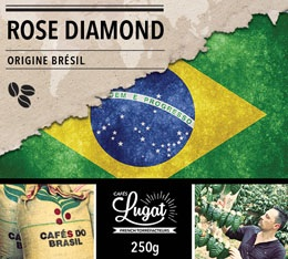 Café en grains : Brésil - Rose Diamond - 1Kg - Cafés Lugat