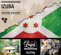 Caf� en grains : Burundi - Izuba - Torr�faction Filtre - 1Kg - Caf�s Lugat