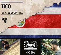 Café en grains : Costa Rica - Tico - 1Kg - Cafés Lugat