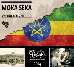 Café en grains : Ethiopie - Moka Seka - 250g - Cafés Lugat
