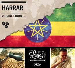 Café en grains : Ethiopie - Moka Harrar - 250g - Cafés Lugat