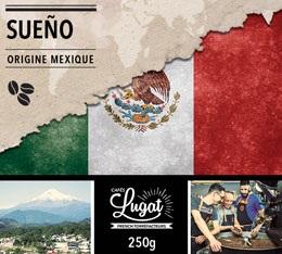 Café en grains : Mexique - Sueño - Décaféiné à l'eau - 250g - Cafés Lugat