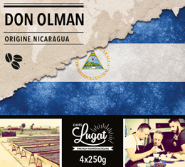 Caf� en grains : Nicaragua - Don Olman - 1Kg - Caf�s Lugat