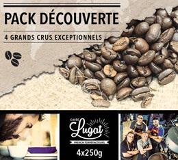 Pack D�couverte Caf�s Lugat (4 caf�s en grains x 250g)