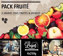 Pack Fruit� Caf�s Lugat (4 caf�s en grains x 250g)