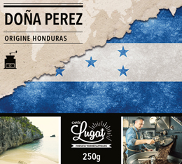 Café moulu Bio : Honduras - Doña Perez - 250g - Cafés Lugat
