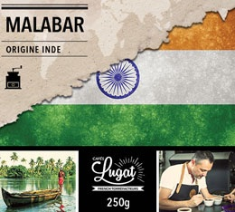 Café moulu : Inde - Malabar - 250 g - Cafés Lugat