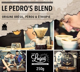 Café moulu : Le Pedro's Blend (Mélange Gourmand) - 250g - Cafés Lugat
