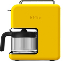 Cafeti�re filtre Kenwood Kmix CM030YW Jaune Lemon Tonic 6 tasses + offre cadeaux