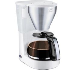 Cafetière filtre Melitta Easy Top 1010-03 blanc/acier brossé + offre cadeaux