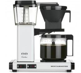 Cafeti�re filtre Moccamaster KBG741 blanc cr�me 1.25L + offre cadeaux