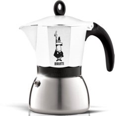 Cafetière italienne induction Bialetti Moka Express blanche - 6 tasses
