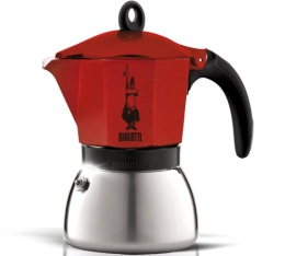 Cafetière italienne induction Bialetti Moka Express rouge - 6 tasses