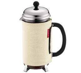 Cafeti�re � Piston Bodum Chambord 1L + Housse n�opr�ne