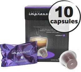 Aromatico x10 Caff� Impresso compatible Nespresso