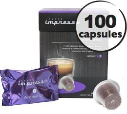 Aromatico x 100 Caff� Impresso compatible Nespresso