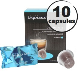 Decafeinato x10 Caff� Impresso compatible Nespresso