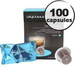 Decafeinato x100 Caffè Impresso compatible Nespresso