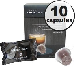 Forza Roma x10 Caffè Impresso compatible Nespresso
