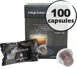 Forza Roma x 100 Caff� Impresso compatible Nespresso