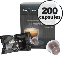 Forza Roma x 200 Caff� Impresso compatible Nespresso