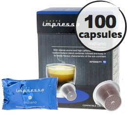 Indiano x100 Caff� Impresso compatible Nespresso