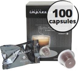 Milano x 100 Caff� Impresso compatible Nespresso