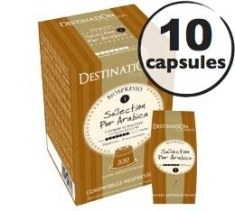 Capsules compatibles Nespresso Biospresso S�lection x10 Destination