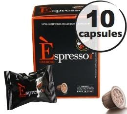 Capsule Espresso Crémoso Caffè Vergnano x10 pour Nespresso