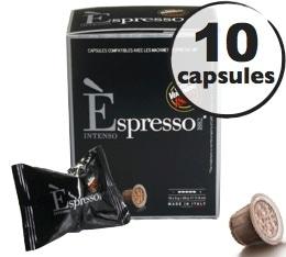 Capsule Espresso Intenso Caff� Vergnano x10 pour Nespresso