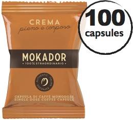 Capsules MyCaffe Crema x100 (capsules FAP) - Mokador Castellari